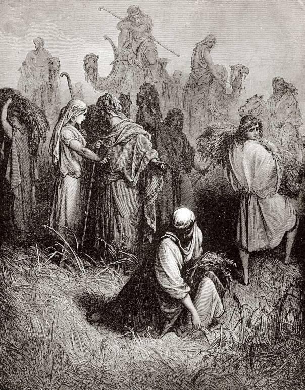 """גוסטב דורה, """"רות מלקטת בשדה בועז"""", 1865"""