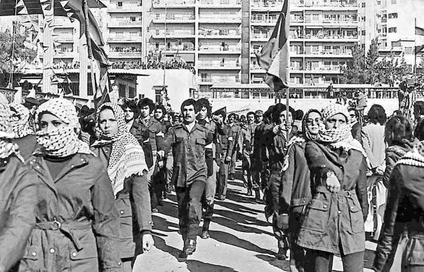 """דיוקן קשוח ובלתי מפוייס של ביירות. צעדת פת""""ח, ביירות 1979"""