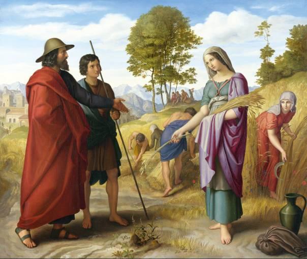 ניצוצות של קדושה. רות בשדה בעז, ג'וליוס שנור פון קרוספלד, 1828
