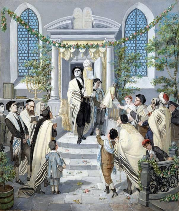 רק סכום היחידים מהווה את התורה. מוריץ דניאל אופנהיים, חג השבועות, 1880
