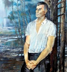 """חלם לכתוב רומן כמו """"מלחמה ושלום"""". בוריס פסטרנק ציור: יורי פיסטב, 1967"""