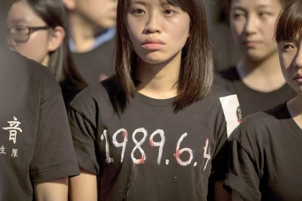 שם דווקא מציינים את יום הטבח. הונג קונג, 2014 צילום: EPA