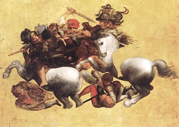 """הציור שהציב את שני הציירים הגאונים בתחרות זה מול זה. שחזורו של רובנס ל""""קרב אנגיארי"""", הסקיצה של לאונרדו דה וינצ'י"""