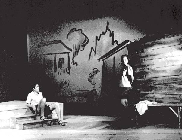 """סיפורו האישי של אורי הוא סיפורו של דור. """"הוא הלך בשדות"""", תיאטרון הקאמרי, 1948"""