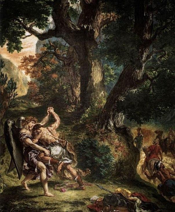 אז'ן דלקרואה, יעקב והמלאך,1861-1854, פריס