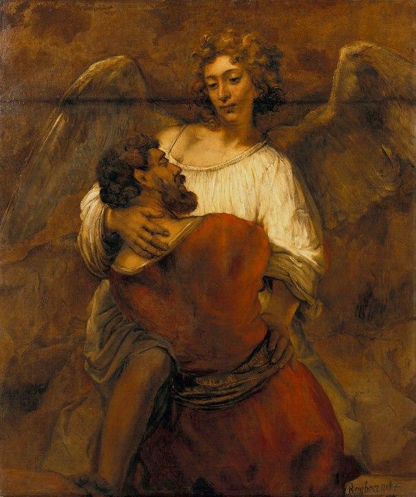 רמברנדט, יעקב נאבק במלאך, 1659, ברלין