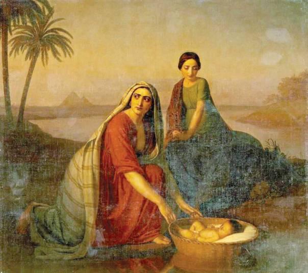 בת פרעה ומשה, אלכסיי טירונוב, 1839