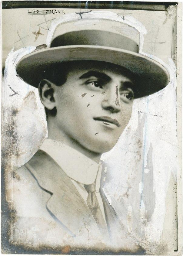 """""""אילו פרנק לא היה יהודי הוא לא היה מובא למשפט"""". ליאו פרנק, 1913  צילום: Bain News Service"""