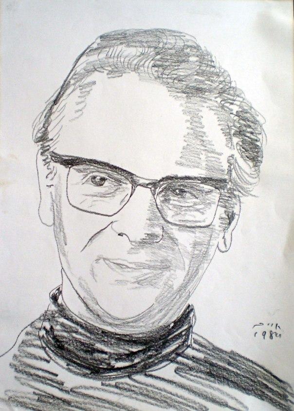 אפרים קישון באיור של חיים טופול, 1984