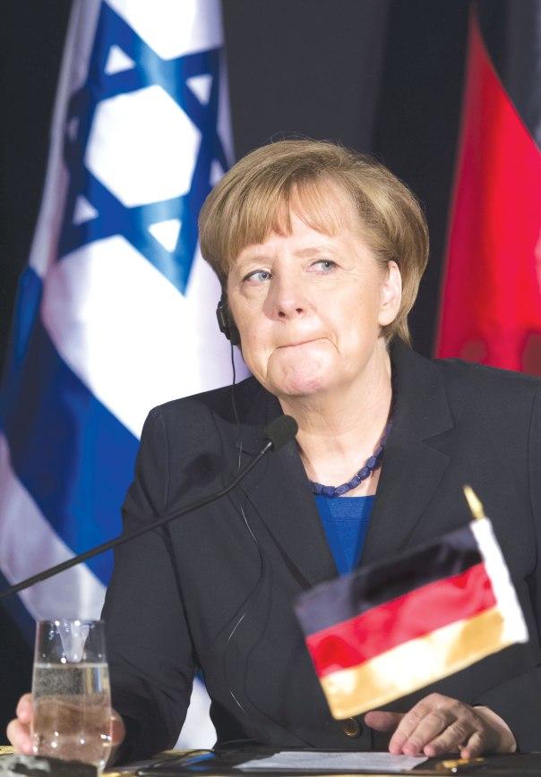 מתמיכה מוחלטת לביקורתיות גוברת. אנגלה מרקל בביקורה בישראל, פברואר 2014  צילום: פלאש 90