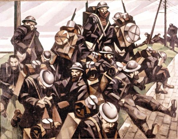 הרב כלפון ביכה ברגשנות רבה את המתים מקרב העמים השונים. כריסטופר נבינסון, חיילים צרפתים במנוחה, 1916 צילום: גטי אימג'ס