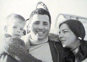 עם מיכל ובנם נועם, 1969 צילומים: באדיבות המשפחה