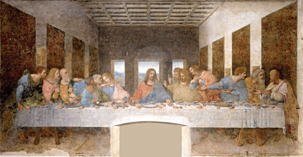 """הציור שכן צוייר. """"הסעודה האחרונה"""", לאונרדו דה־וינצ'י, 1495"""