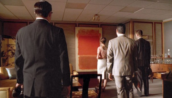 """""""אל תטריד את עצמך בענייני אסתטיקה, זה יעשה לך כאב ראש""""; הציור של מארק רותקו, מתוך """"מד מן""""  צילום מסך"""