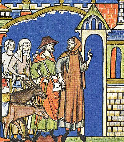 ביתור הגוף מבטא ניסיון לשימור שלמות הנשמה. הלוי ופילגשו נכנסים לגבעה, ציור משנת 1250