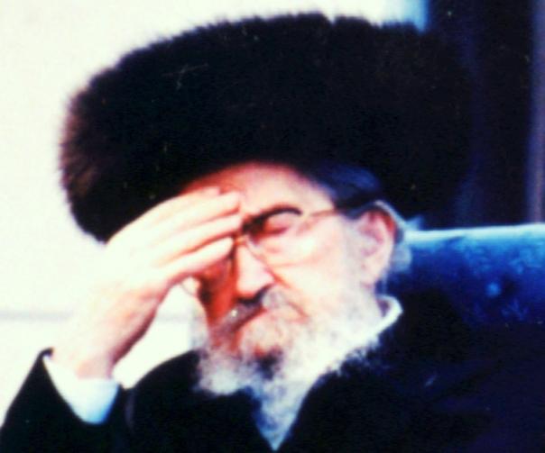 """אדמו""""ר מחנך. ר' שלום נח ברזובסקי צילום: א. מודעי"""