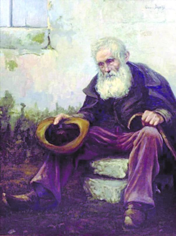 האחריות כלפי העניים אינה תלויה ברצוננו הטוב. הקבצן הזקן, לואיס דיוויס, 1916