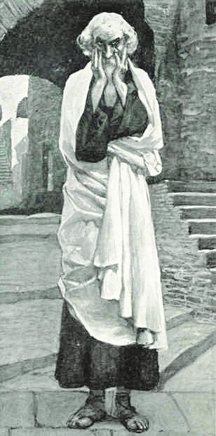 יוצא נגד מנהיגי העם על הפגיעה במעמדות החלשים.הנביא מיכה בציור של ג'יימס טיסו , 1900