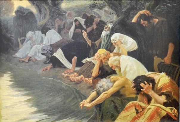 היהודים חזרו מגלות בבל, אבל העם עוד היה מפורד. על נהרות בבל, ג'בהרד פוגל, 1920