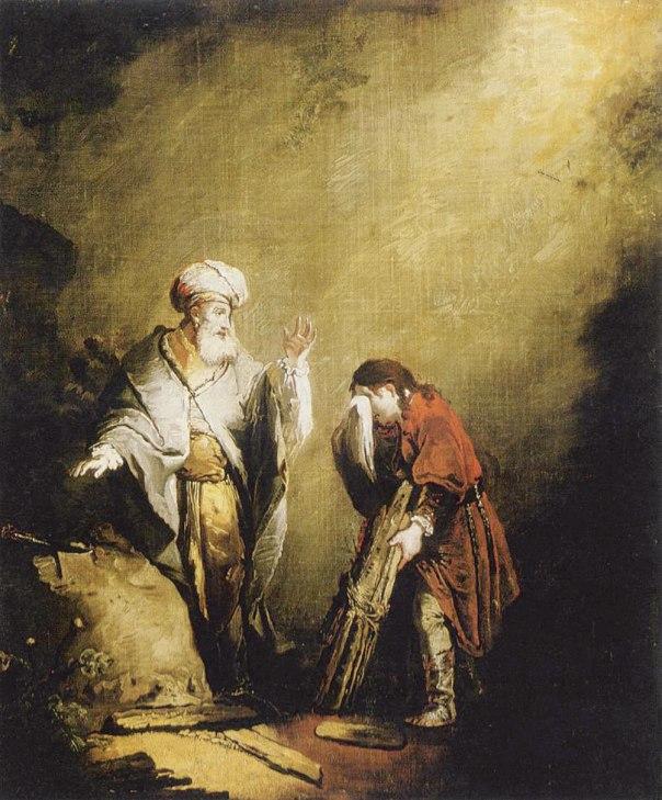 יצחק נולד בראש השנה, מת בראש השנה, והעקדה ברקע. עקדת יצחק, וילהלם ארנסט דיטריך