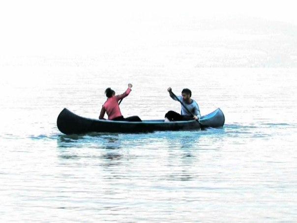 """אפי ואמיר, שלוש לולאות מים, פרט מתוך וידאו, 2008 צילום: יח""""צ """