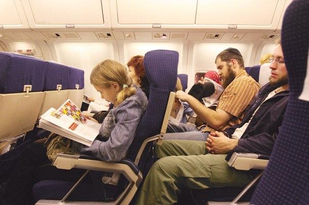 ברכת הגומל כברכה סובייקטיבית לפי תחושתו של כל אדם. נוסעים במטוס צילום: אנה קפלן, פלאש 90