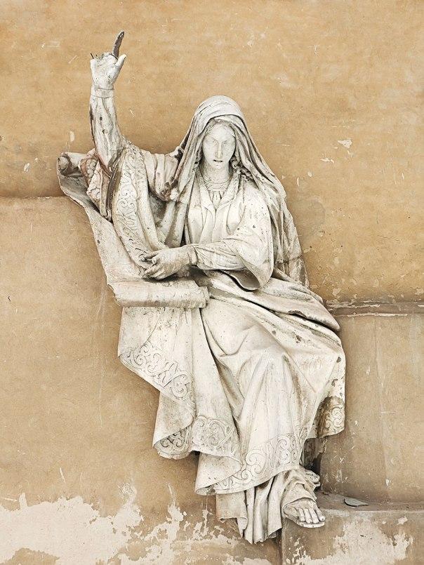 """""""שופטה את ישראל"""". פסל של דבורה הנביאה צילום: שאטרסטוק"""