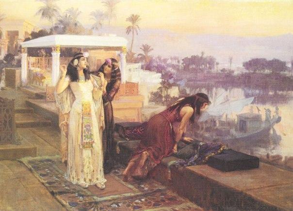 הייתה מעורבת בין היתר גם בענייני ארץ ישראל. קלאופטרה במצרים, פרדריק ארתור ברידג'מן, 1896