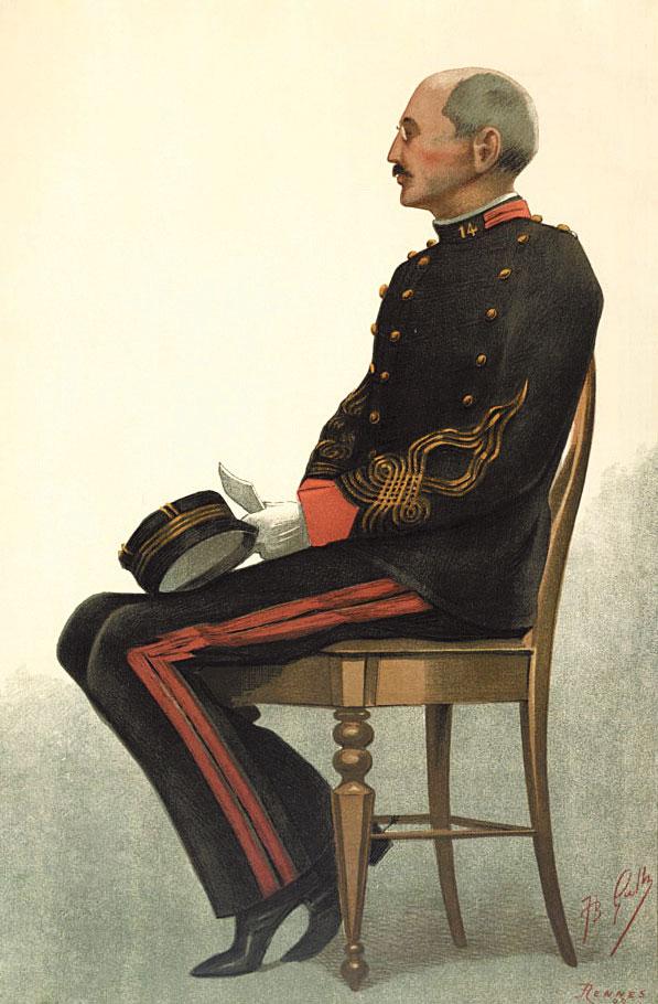 הקרבן המושלם. אלפרד דרייפוס, ז'אן בפטיסט גוט, ואניטי פייר, 1899