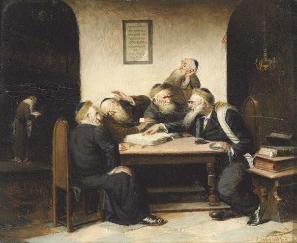 היעדר ההסכמה אינו כורח המציאות, אלא אידיאל בפני עצמו. סוגיה תלמודית, קרל שלייכר, 1800