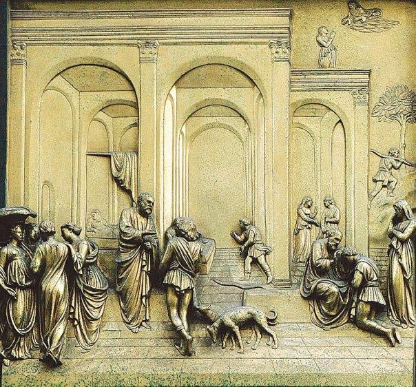 לורנצו גיברטי, סיפורי יעקב ועשו, 1452–1425, בית הטבילה, פירנצה