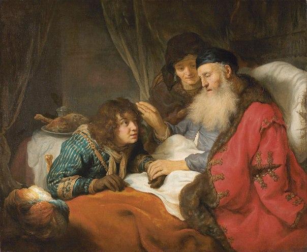 חוברט פלינק, יצחק מברך את יעקב, 1639, רייקסמוזיאון, אמסטרדם