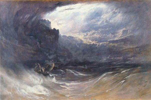 """היה או לא היה? """"המבול"""", ג'ון מרטין, 1834"""