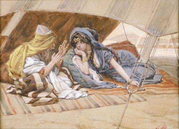 דווקא ממנה תיבנה האומה. ג'יימס טיסו, אברהם מייעץ לשרה , 1896