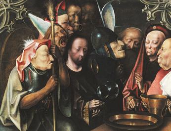 רומן המזכיר את ציוריו המסויטים של הירונימוס בוש. ישו לפני פילטוס, 1520