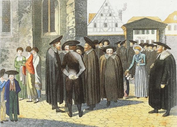 שיבה אל האינסוף. בשבת מחוץ לבית הכנסת, גרמניה, המאה ה–19