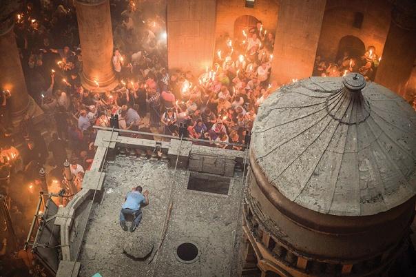 """""""אני מאוד אוהב את ירושלים, בעיקר את העיר המזרחית"""". כנסיית הקבר צילום: הדס פרוש, פלאש 90"""