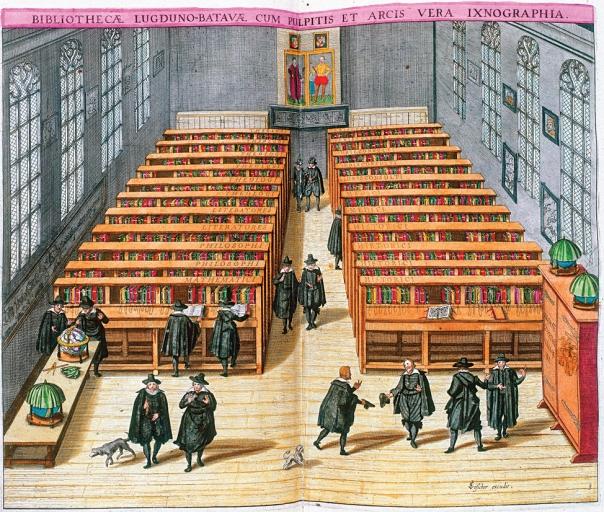 כתב היד היחיד של הירושלמי נמצא בספריית ליידן בהולנד. תחריט של הספרייה האוניברסיטאית, 1610 צילום: Woudanus. Engraving by Willem Swanenburgh