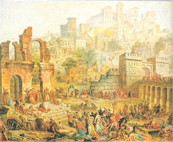 מהקשים בתולדות האסונות שאירעו לעם ישראל. טבח היהודים במץ במסע הצלב הראשון, אוגוסט מיגט, המאה ה–19