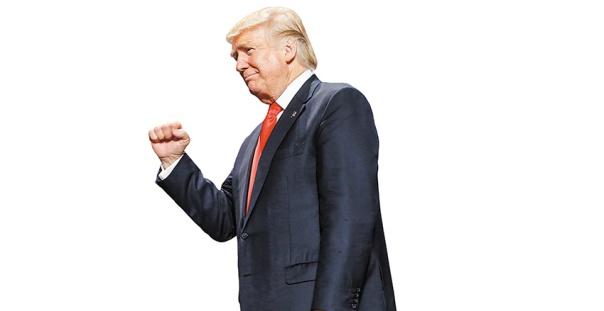 כמיהה לעבר היסטורי מפואר, טראמפ בועידת הרפובליקנים בקליבלנד, 2016.  צילום: אי.פי.איי