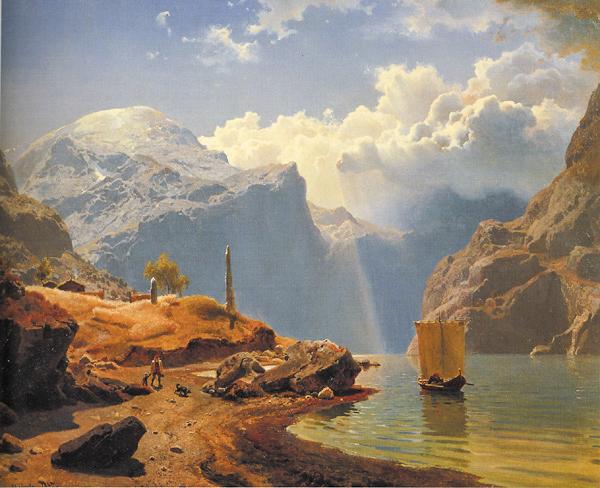מי שמאמין ברומנטיקה רואה את מה שיפה, את מה שטוב. הנס גוד, הנורבגי, 1847