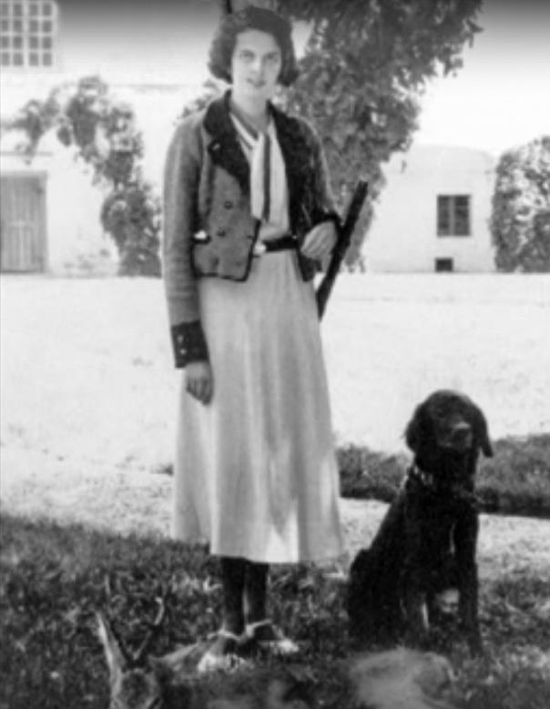 הרוזנת מרגיט בזמן המלחמה צילום מסך מתוך סרט על הספר, יוטיוב