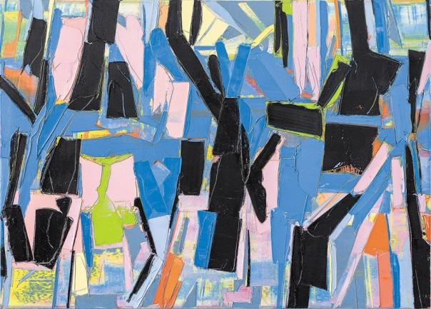 """גלעד אפרת, נתיב חשיבה, 2016 מתוך התערוכה """"ציורים: 2016-2014"""", המוצגת בגלריה האוניברסיטאית, תל אביב. צילום: אלעד שריג"""