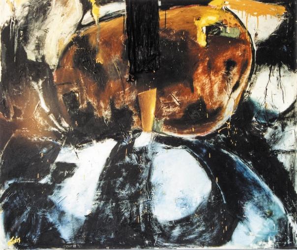 """געגועים לתומאס מאן. ציור בעקבות ספרו """"הר הקסמים"""", כריסטיאנה תוניס, 1987"""