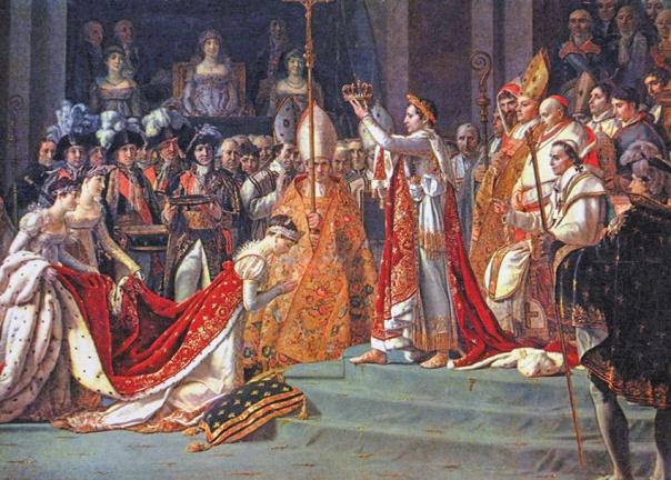 הכתיר אותה כקיסרית ונעזר בקסמיה ובקשריה. נפוליאון וז'וזפין בטקס ההכתרה בנוטרדאם, ז'אק-לואי דויד וג'ורג'ס רוג'ט, 1805