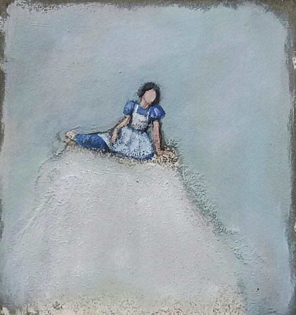 """חלומות של מי שלא מעִזים לחלום רחוק מדי. רות אורנבך, ללא כותרת, 2016 מתוך התערוכה """"קירות של אמנים"""" המוצגת בפלורנטין 45, תל אביב"""