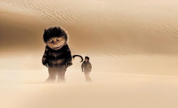 """מפגש בין מקס ורבה בר בר חנה שהפליג לארצות מופלאות. מתוך הסרט """"ארץ יצורי הפרא"""" צילום: באדיבות יס"""
