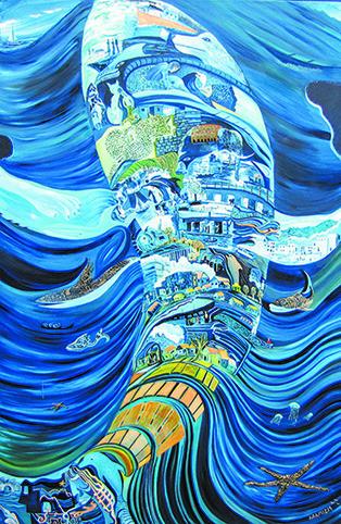 הפירוש הספרותי לספר יונה הוא פנינה ספרותית והגותית. ענת אגמי, החלום, 2015  מתוך התערוכה 'חשיפות', המוצגת במרכז הקונגרסים הבינלאומי, בנייני האומה בירושלים