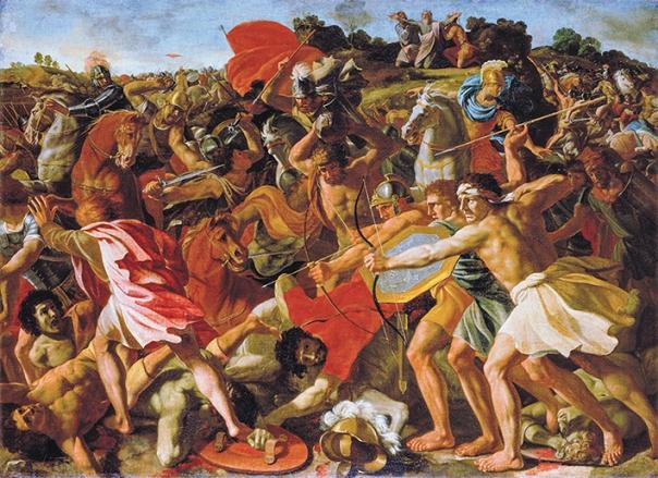 הכנתו להנהגה מתחילה לאחר הניצחון המסחרר. ניצחון יהושע על העמלקים, ניקולא פּוּסָן, 1624
